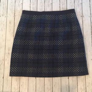 Boden British Tweed by Moon Wool Skirt